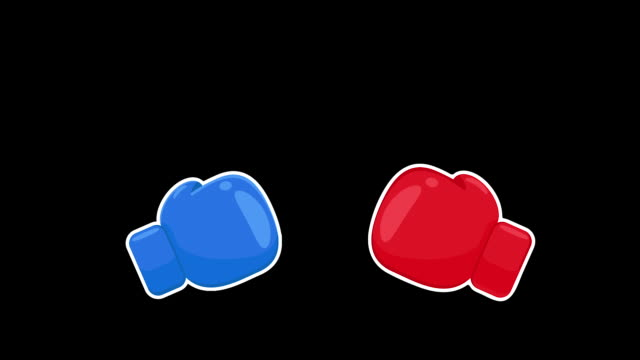 Boxing Gloves Vector. Red and blue boxing gloves that are fighting. The concept of war.