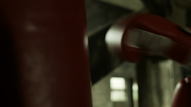 Boxing workout in an old building video
