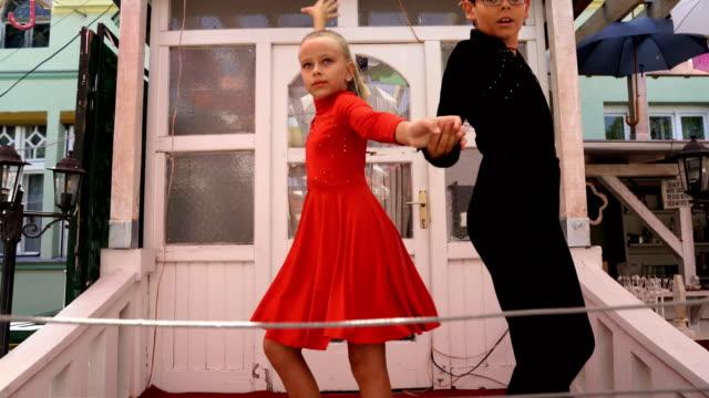 Boy and girl dancing latino dance. video