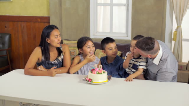 Boy And Girl Eat Birthday Cake video