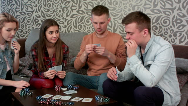 Boy caught his opponent cheating, while playing poker, becomes angry and walks away video