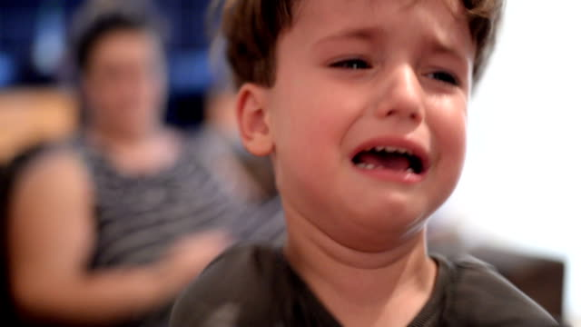 Boy crying Little boy is at home. He is angry and he is crying. angry stock videos & royalty-free footage