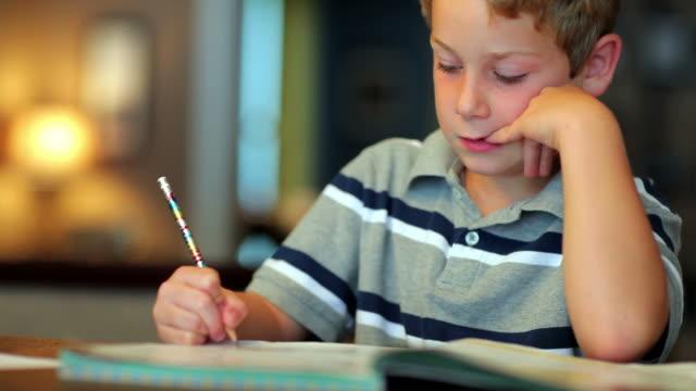 Boy Doing Homework video