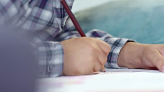 Boy Drawing Pictures with Pencil video