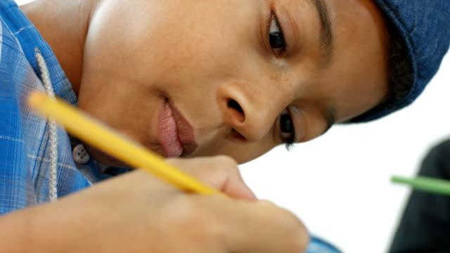 boy draws video