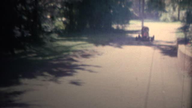1958 - Boy Driving Gas Powered Go Kart video
