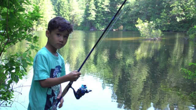Boy fishing at Lake