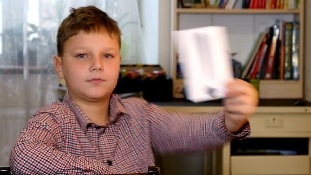 Boy Holding Exclamation Point video