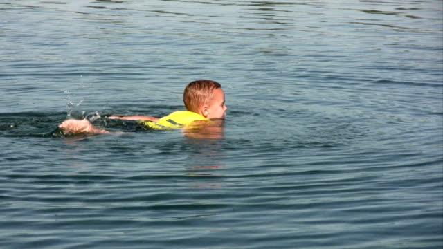 Boy Learning to Swim video