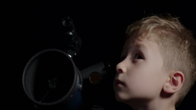 boy observing the night sky - 7 star stock videos and b-roll footage