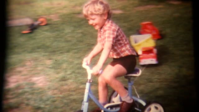 Boy on Tricycle Super 8 1972 (HD1080)
