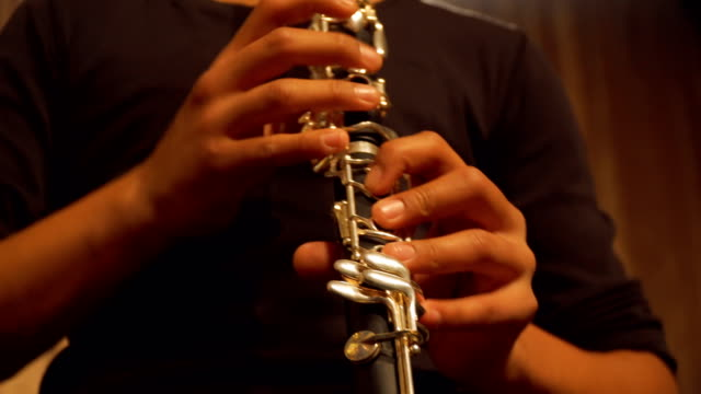 Boy Playing Clarinet in Concert