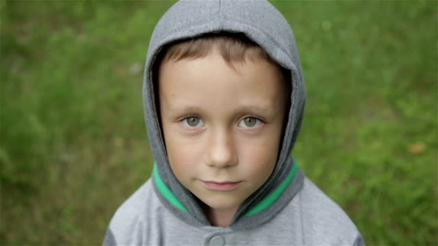 Boy playing outdoors video