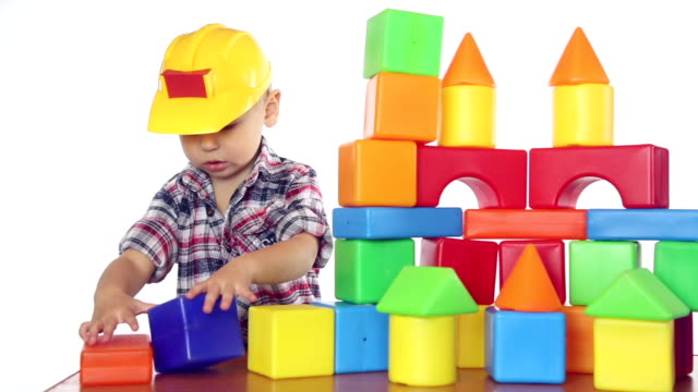 Royalty Free Kids Toys White Background Hd Video 4k Stock Footage