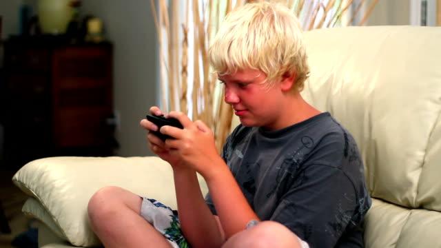 Boy Plays Video Game video