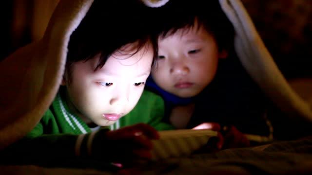 Boy Using Smart Phone video