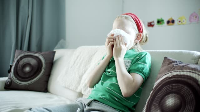 Boy with allergies.