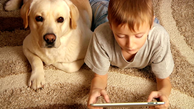 boy with his dog video