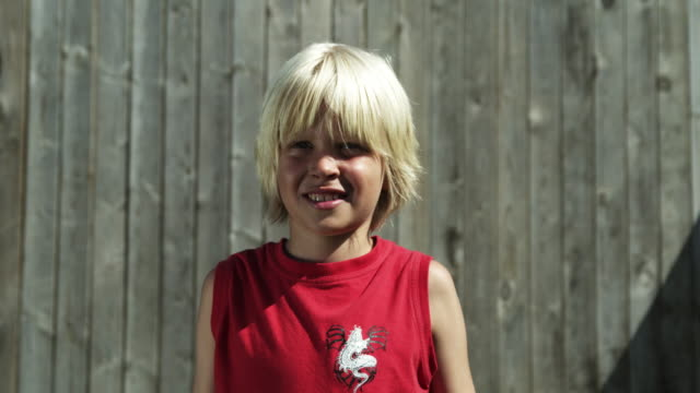 Boy with muscles (Shot on Red) video