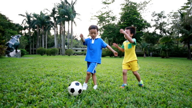Boy with soccer ball,HD SLOW MOTION video