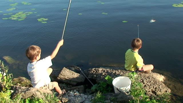 Boys on a fishing trip video