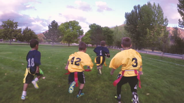 Boys Playing American Flag Football video