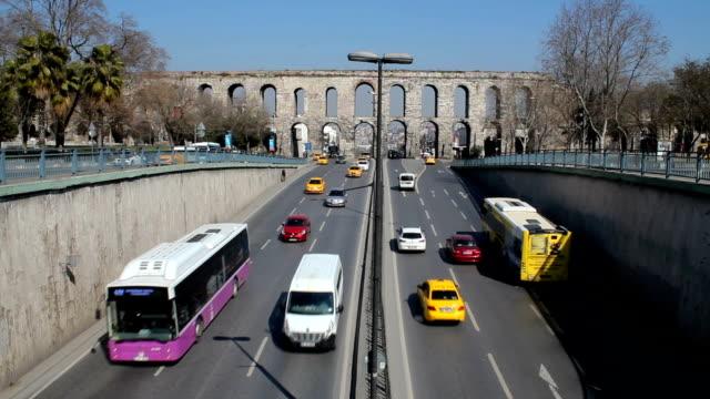 Bozdogan ( Valens ) Aqueduct. Istanbul, Turkey Bozdogan ( Valens ) Aqueduct. Istanbul, Turkey aqueduct stock videos & royalty-free footage