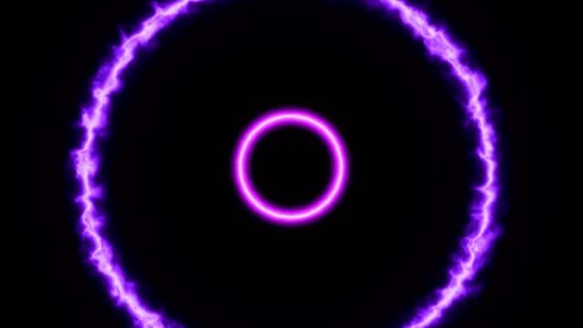 stockvideo's en b-roll-footage met 100 bpm audio reactieve eindeloze cirkels-lus - visuele hulpmiddelen