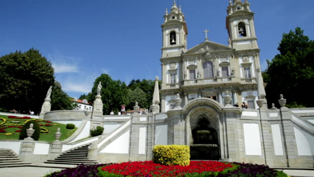 braga sanctuary portugal - neoclassical architecture stock videos & royalty-free footage