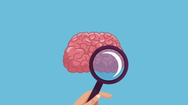 vídeos de stock e filmes b-roll de brain and intelligence hd animation - cerebelo