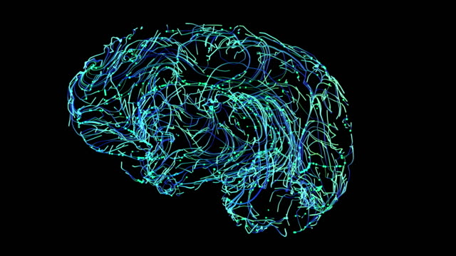 brain connections blue 3d illustration brain connections blue genius stock videos & royalty-free footage