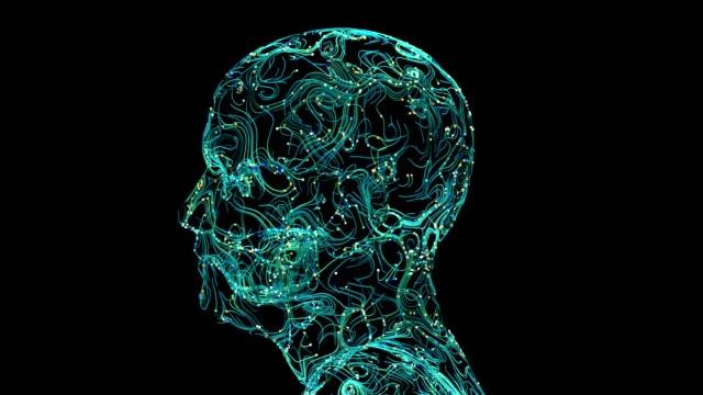 hjärn kopplingar färgglada - huvud bildbanksvideor och videomaterial från bakom kulisserna