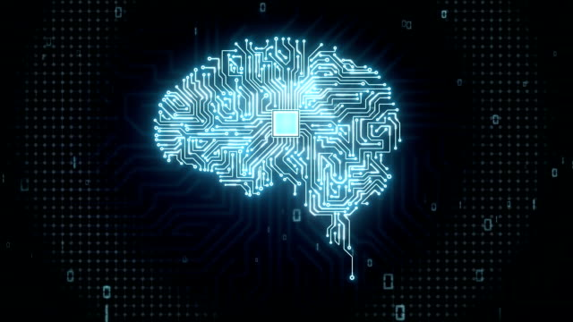 Brain CPU chip, grow artificial intelligence. video
