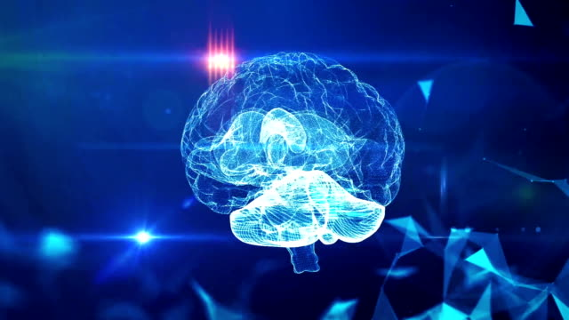 мозг медицинских технологий фон - white background стоковые видео и кадры b-roll