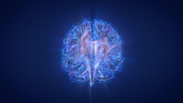 stockvideo's en b-roll-footage met brain-polar lichten en ster nevel - brain
