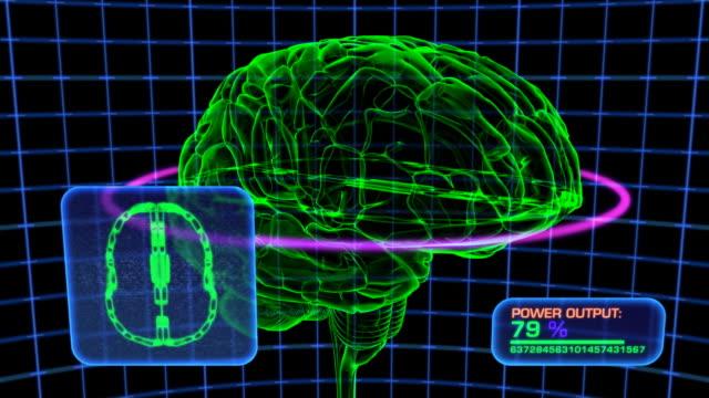 Brain Scan Computer Display Simulation, HD Element video