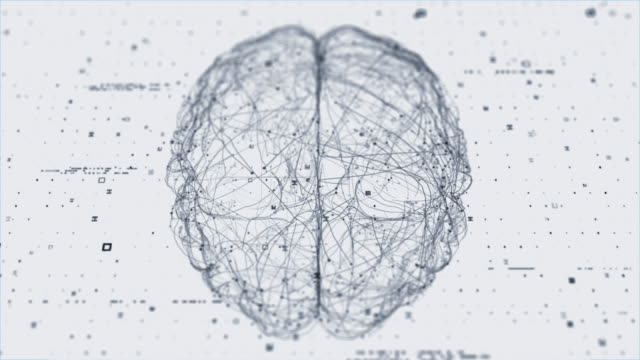 stockvideo's en b-roll-footage met hersen technologie scan (hi-speed deeltjes) - brain