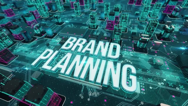 Brand planning with digital technology concept