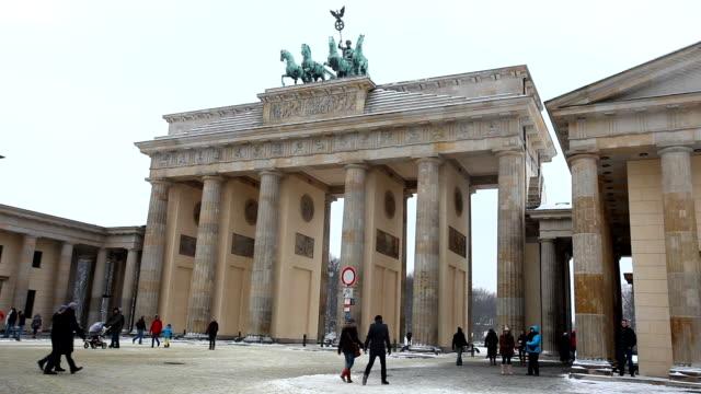 Brandenburger Tor at winter video