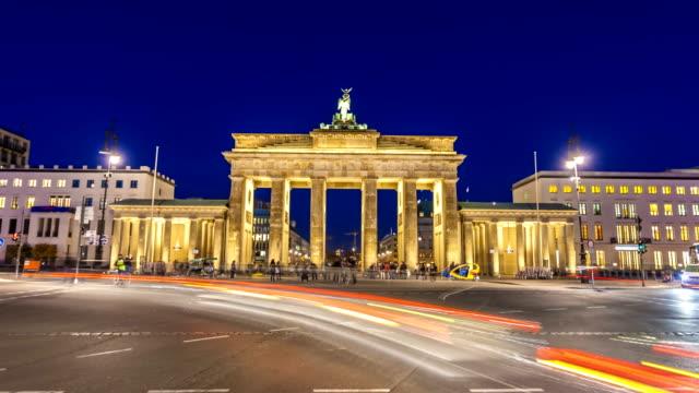 ベルリンのブランデンバーガー・トー、タイムラプス ビデオ