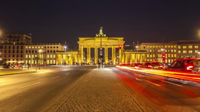 Brandenburger Tor in Berlin, Zeitraffer – Video