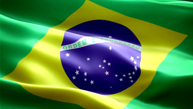 Brasil national flag. (New surge effect) video