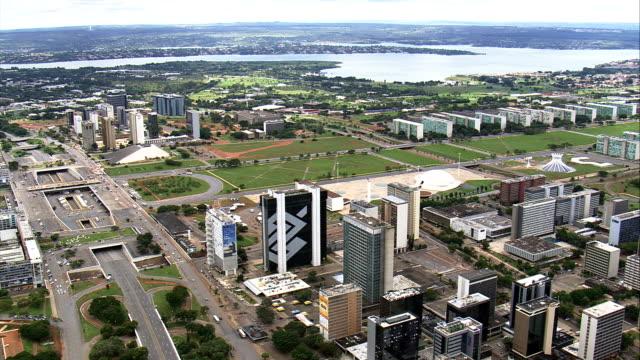 Brasília, em geral, vistas-Vista aérea-Distrito Federal, Brasília, Brasil - vídeo