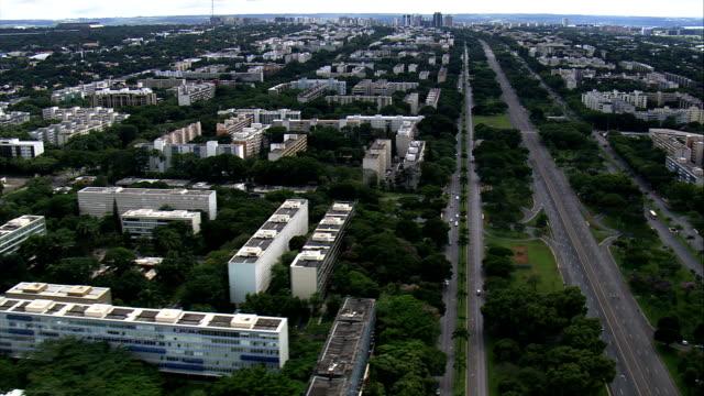 Brasília ala sul-Vista aérea-Distrito Federal, Brasília, Brasil - vídeo