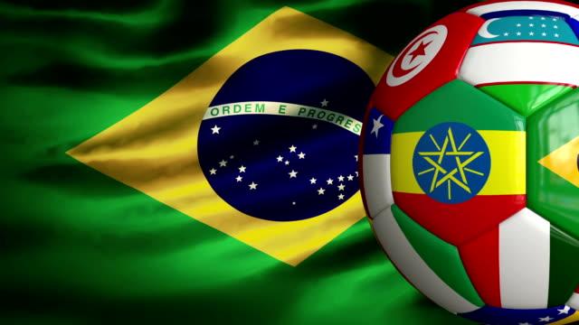 Brasilien Flagge Welt Cup Soccer Ball und – Video