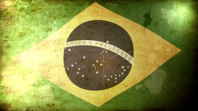 Brazil Flag - Grunge. HD video