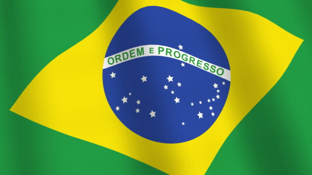 Brazil flag HD video