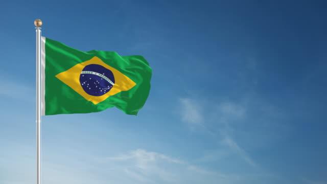 4K Brazil Flag - Loopable video