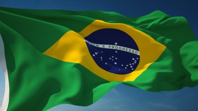 4 K Brasilien Flagge-Schleifen einsetzbar – Video