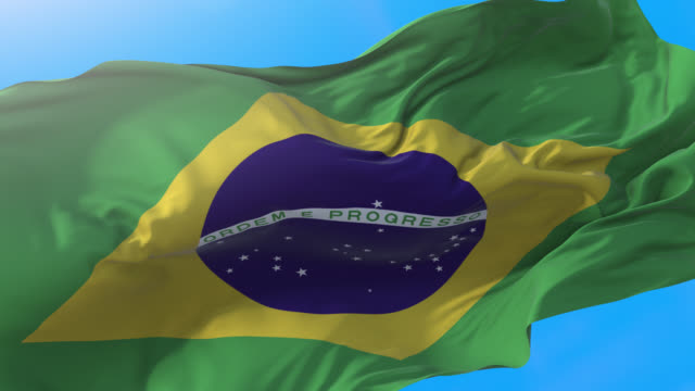 brasilien flagga video vinka 4k. 3d brasiliansk bakgrund. brasilien bakgrund 3840x2160 px. - brasilien bildbanksvideor och videomaterial från bakom kulisserna